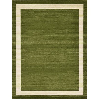 Christi Green/Beige Area Rug Rug Size: Rectangle 9 x 12