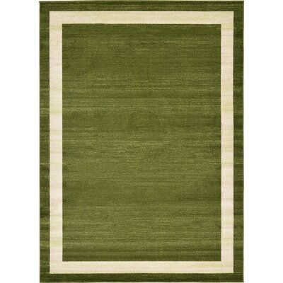 Christi Green/Beige Area Rug Rug Size: Rectangle 8 x 114