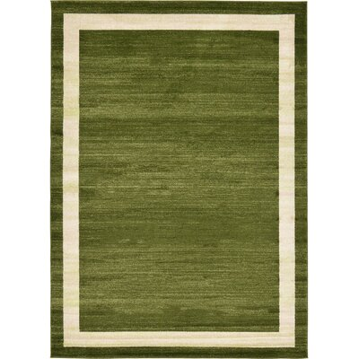 Beverly Green/Beige Area Rug Rug Size: 7 x 10