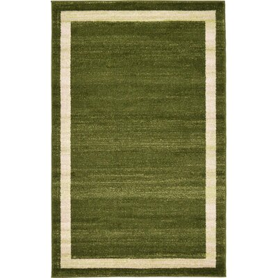 Beverly Green/Beige Area Rug Rug Size: 33 x 53