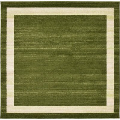 Beverly Green/Beige Area Rug Rug Size: Square 8