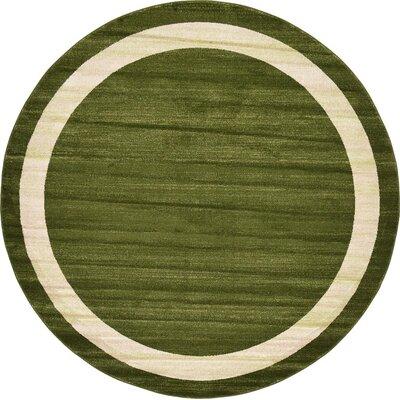 Christi Green/Beige Area Rug Rug Size: Round 8