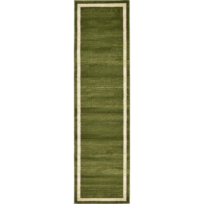 Beverly Green/Beige Area Rug Rug Size: Runner 27 x 10