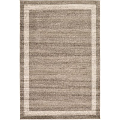 Beverly Brown/Beige Area Rug Rug Size: 6 x 9