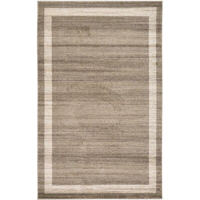 Beverly Brown/Beige Area Rug Rug Size: 5 x 8