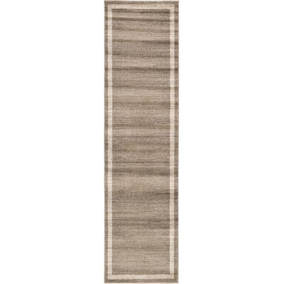 Beverly Brown/Beige Area Rug Rug Size: Runner 27 x 10