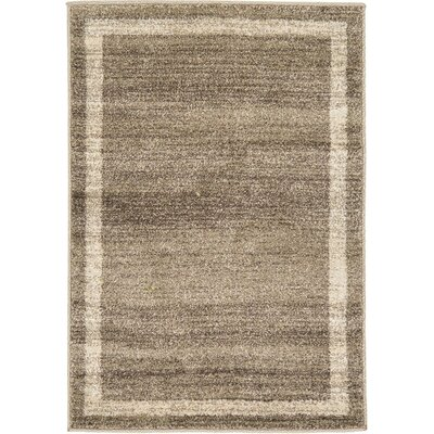 Beverly Brown/Beige Area Rug Rug Size: 10 x 13