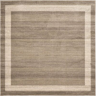 Beverly Brown/Beige Area Rug Rug Size: Square 8