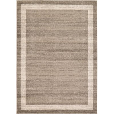 Beverly Brown/Beige Area Rug Rug Size: 7 x 10