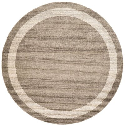 Beverly Brown/Beige Area Rug Rug Size: Round 8