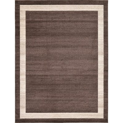 Christi Brown/Beige Color Bordered Area Rug Rug Size: 9 x 12