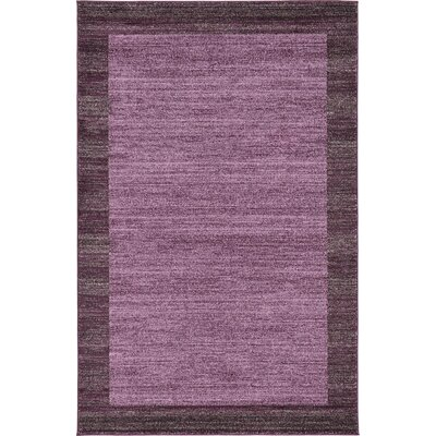 Beverly Purple Area Rug Rug Size: 5 x 8