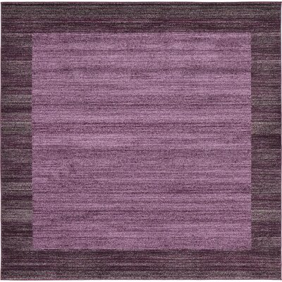 Beverly Purple Area Rug Rug Size: Square 8