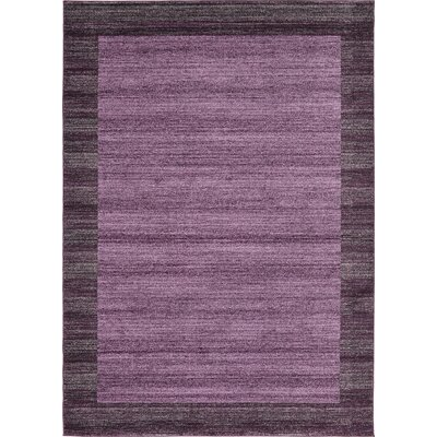 Beverly Purple Area Rug Rug Size: 7 x 10