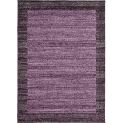 Christi Purple Color Bordered Area Rug Rug Size: Rectangle 10 x 13