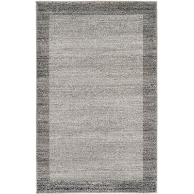 Beverly Gray Area Rug Rug Size: 6 x 9