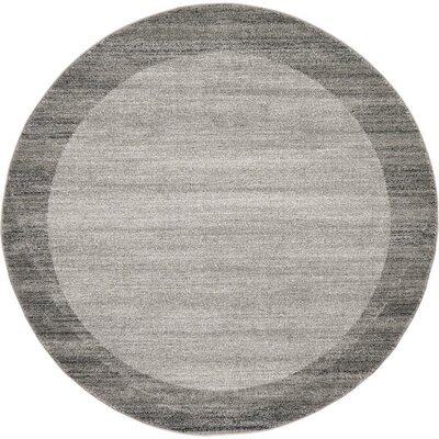 Beverly Gray Area Rug Rug Size: Round 6