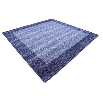 Christi Blue Area Rug Rug Size: Square 8