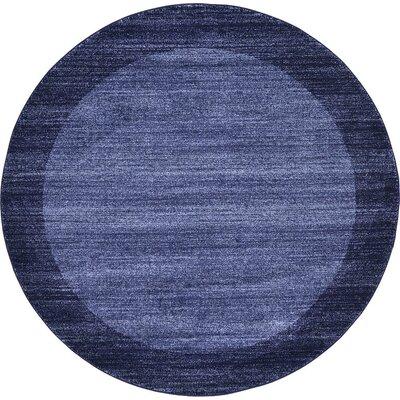 Christi Blue Area Rug Rug Size: Round 6