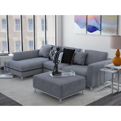 Catlett Sectional Upholstery: Light Gray