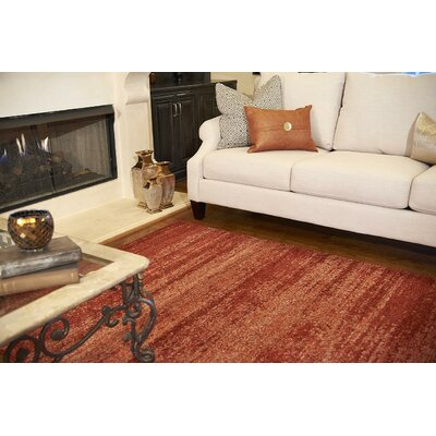 Christi Red-Orange/Pumpkin Area Rug Rug Size: Square 8