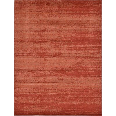Christi Red-Orange/Pumpkin Area Rug Rug Size: 9 x 12