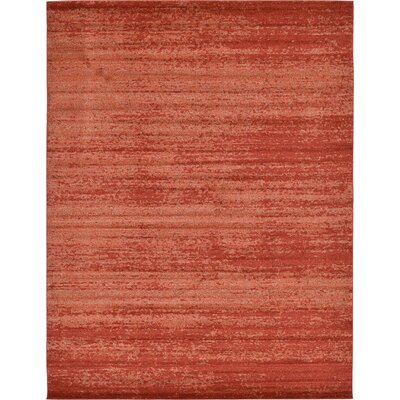 Christi Red-Orange/Pumpkin Area Rug Rug Size: 10 x 13