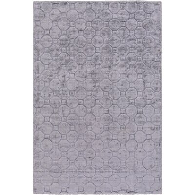 Autumn Hand-Loomed Medium Gray Area Rug Rug size: Rectangle 5 x 76