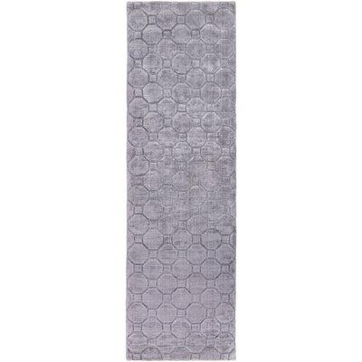 Napa Hand-Loomed Medium Gray Area Rug Rug size: Runner 26 x 8