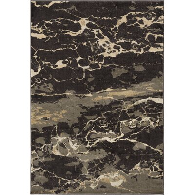 Trask Brown Area Rug Rug Size: 53 x 76