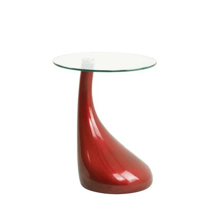 Cristian End Table Color: Red