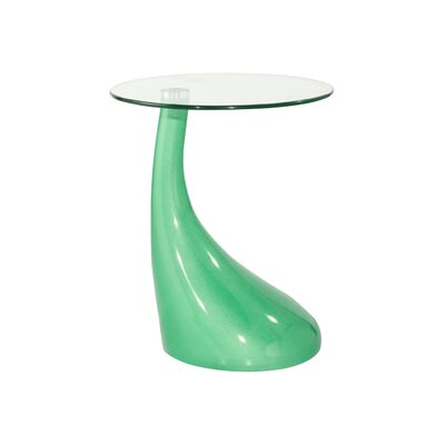 Cristian End Table Color: Green