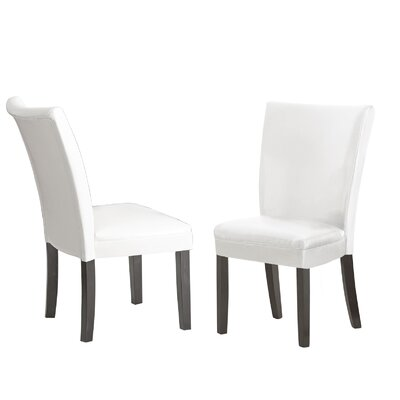 Blackburn Parsons Chair (Set of 2) Upholstery: White