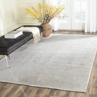Bryonwood Hand-Knotted Natural/Silver Area Rug