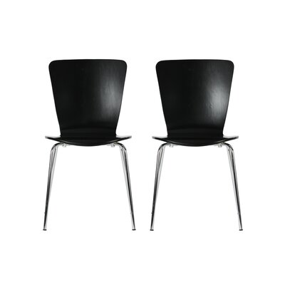 Bentwood Solid Wood Dining Chair Finish: Black