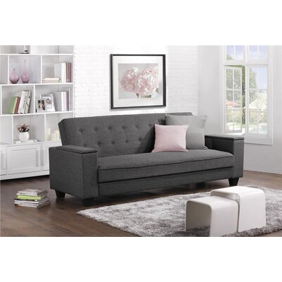 Minco Laptop Tray Convertible Sofa Upholstery: Gray