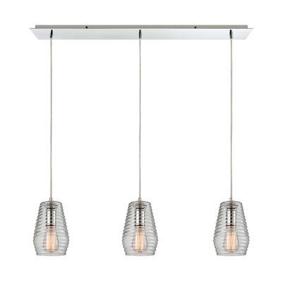 Denis 3-Light Kitchen Island Pendant Finish: Polished Chrome