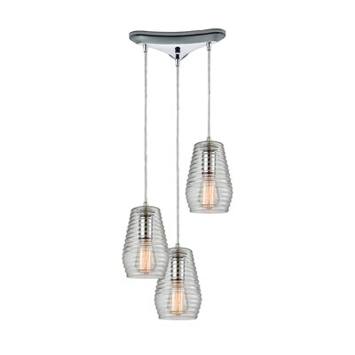 Denisha 3-Light Cascade pendant Finish: Polished Chrome