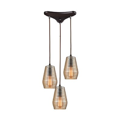 Denisha 3-Light Cascade pendant Finish: Oil Rubbed Bronze