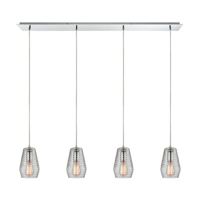 Dennet 4-Light Kitchen Island Pendant Finish: Polished Chrome
