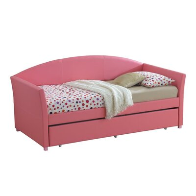 Ridgecrest Daybed with Trundle Color: Pink