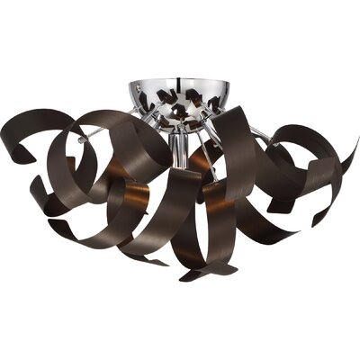 Collier 4-Light Flush Mount Finish: Bronze