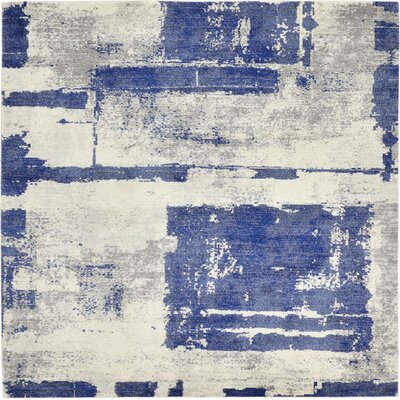Madill Navy Blue Area Rug Rug Size: Square 84