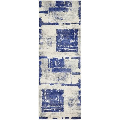 Madill Navy Blue Area Rug Rug Size: Runner 22 x 6