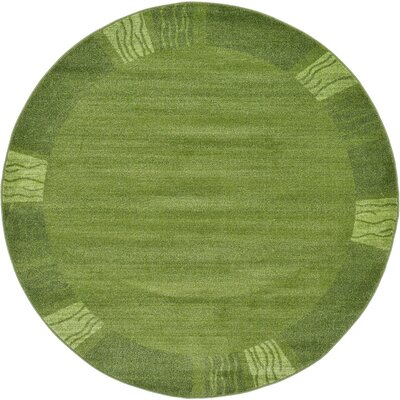 Tiburon Light Green Area Rug Rug Size: Round 6'