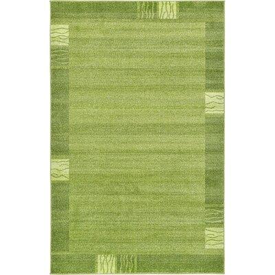 Tiburon Light Green Area Rug Rug Size: 5 x 8