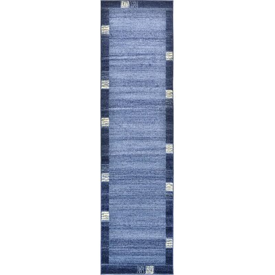 Tiburon Light Blue Area Rug Rug Size: Runner 27 x 10