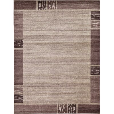 Tiburon Light Brown Area Rug Rug Size: 6 x 6 Round