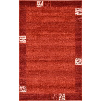 Christi Red Area Rug Rug Size: 10 x 13