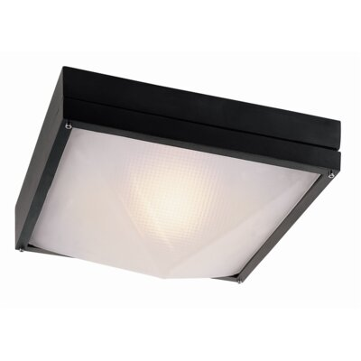 Ossafa 1-Light Flush Mount Finish: Black